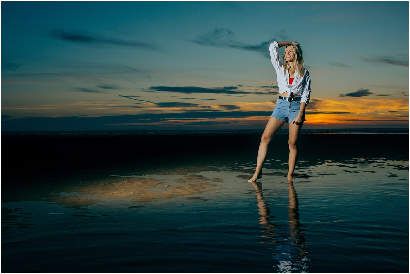 Portrait photography at Formby beach