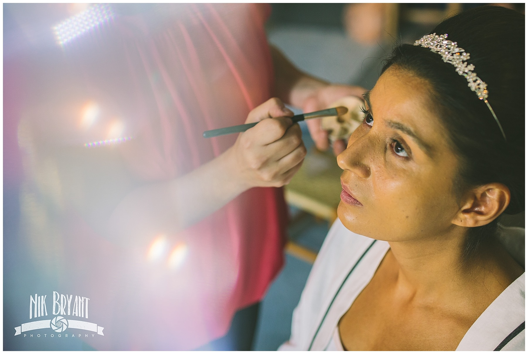 Bridal preparations before Shrigley Hall Wedding