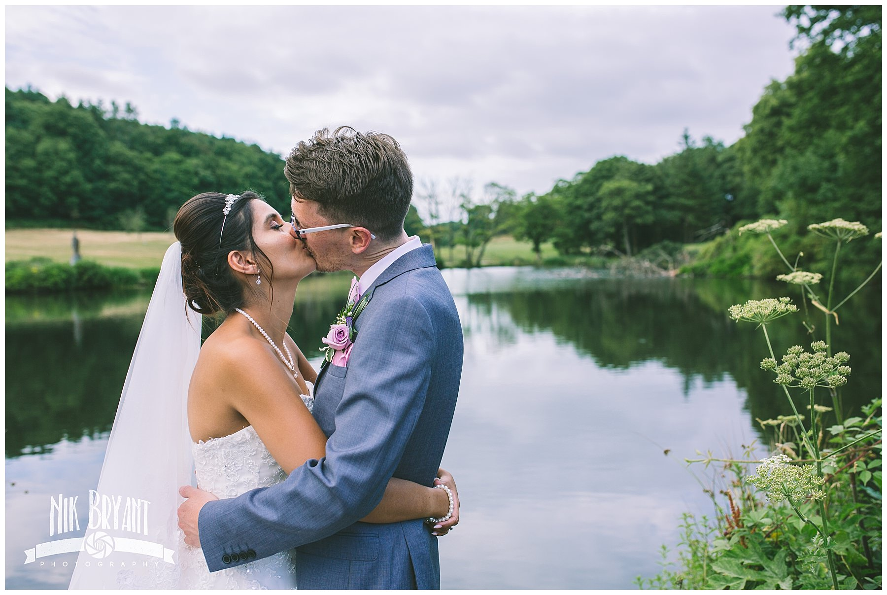 Shrigley Hall Wedding Photography by the lake