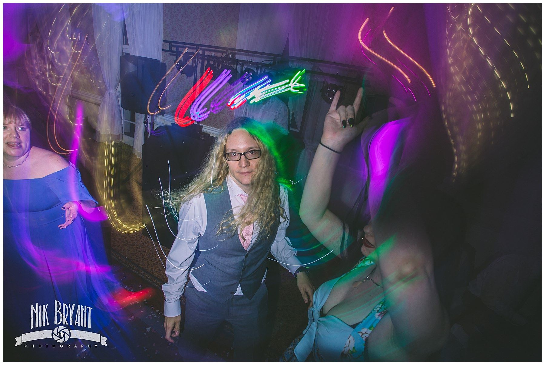 Dance floor antics at shrigley hall