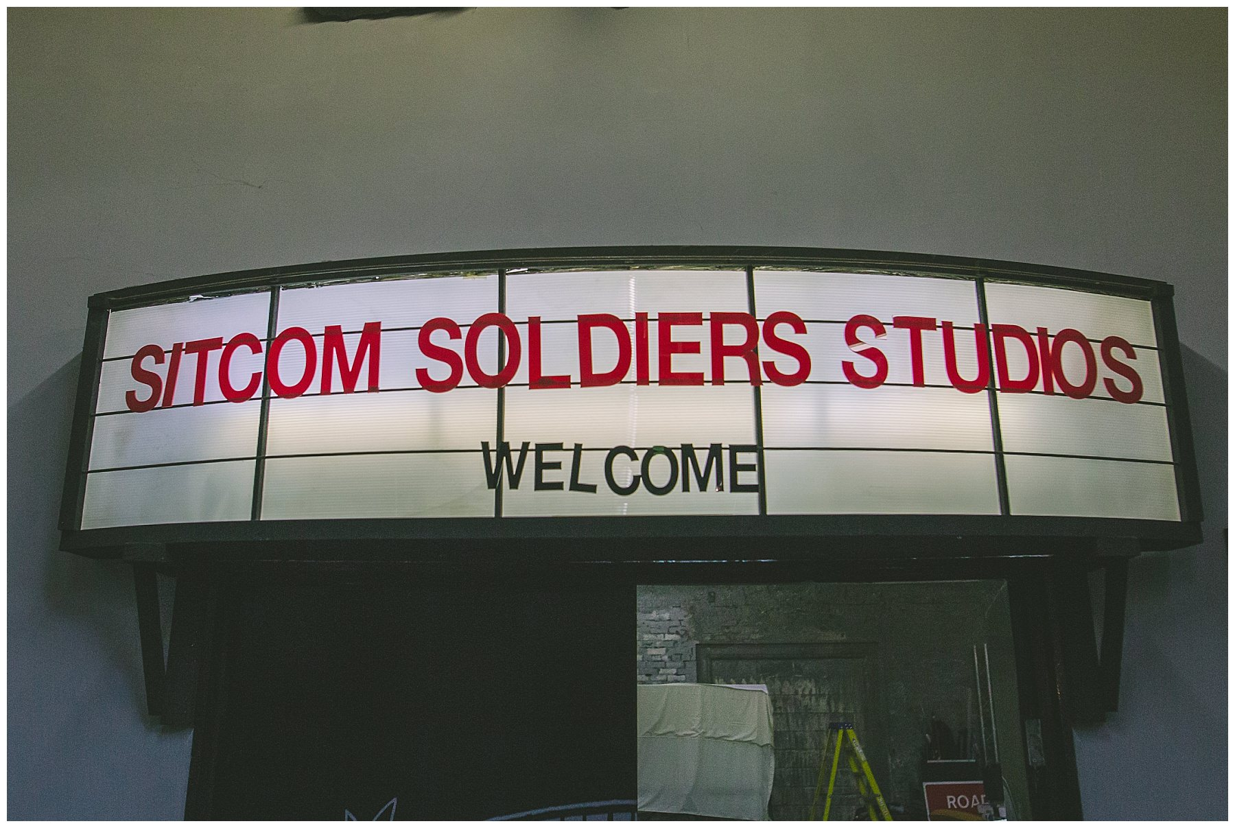 Welcome sign at sitcom soldiers
