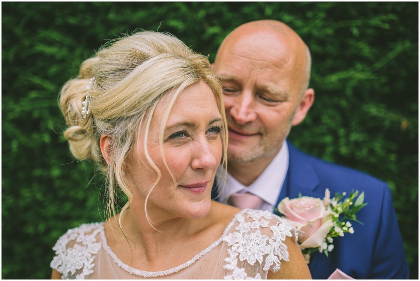 bride and groom portrait at beeston manor