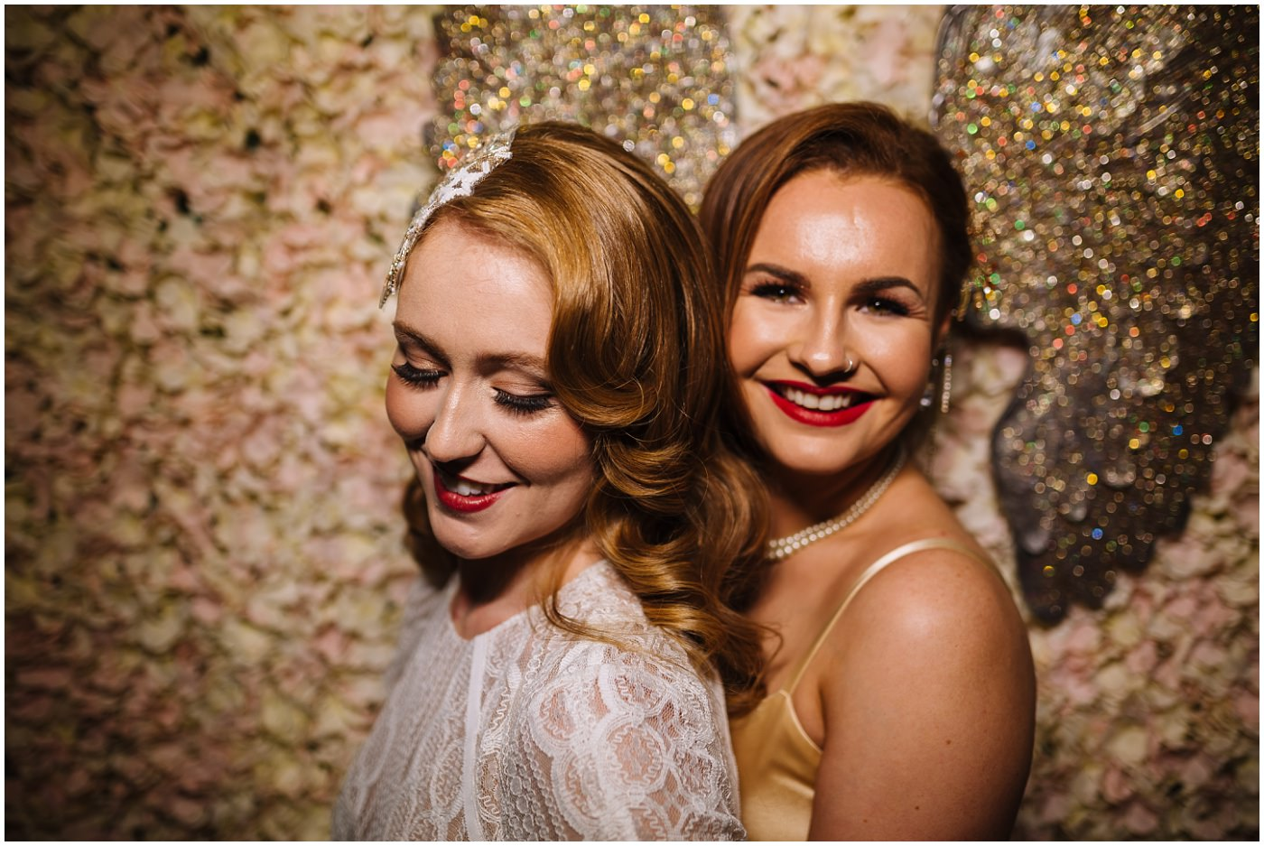 two brides during portraits of same sex liverpool wedding