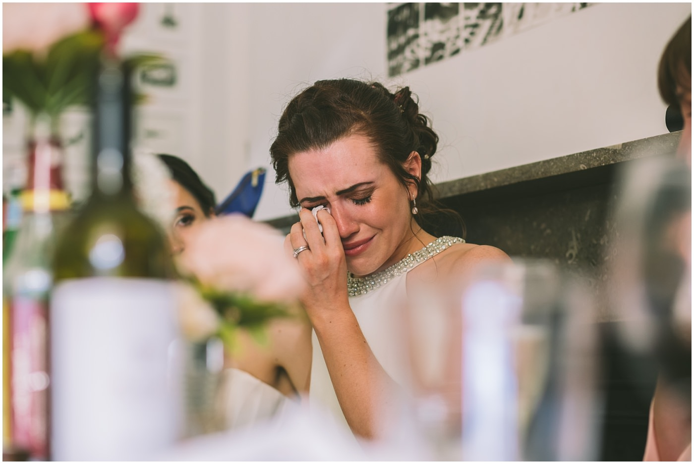 bride cries during father of the bride speech