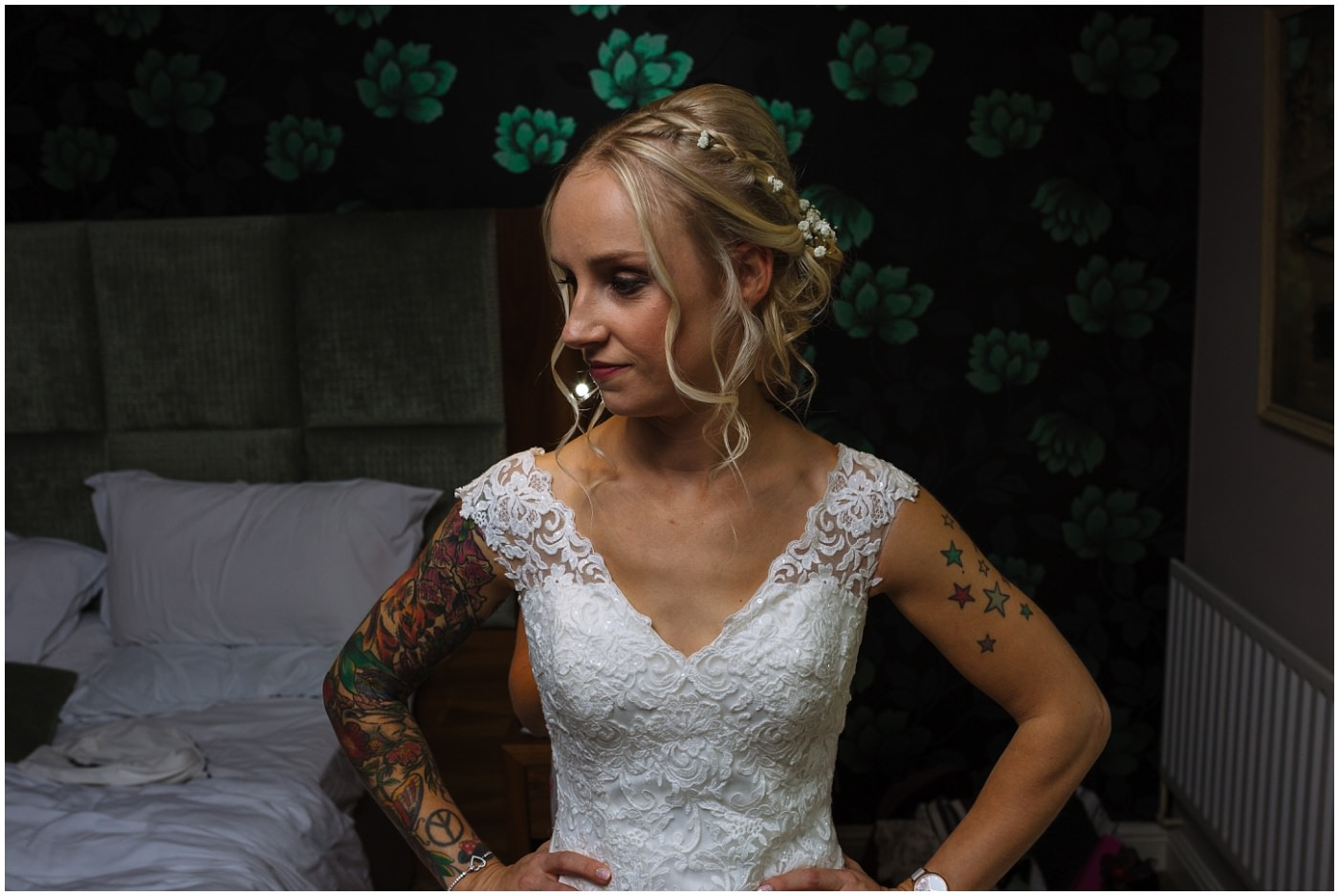 tattooed bride wedding dress inspiration