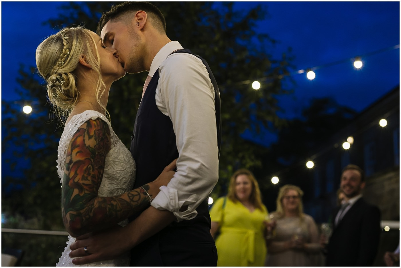 Tattooed couple wedding inspiration