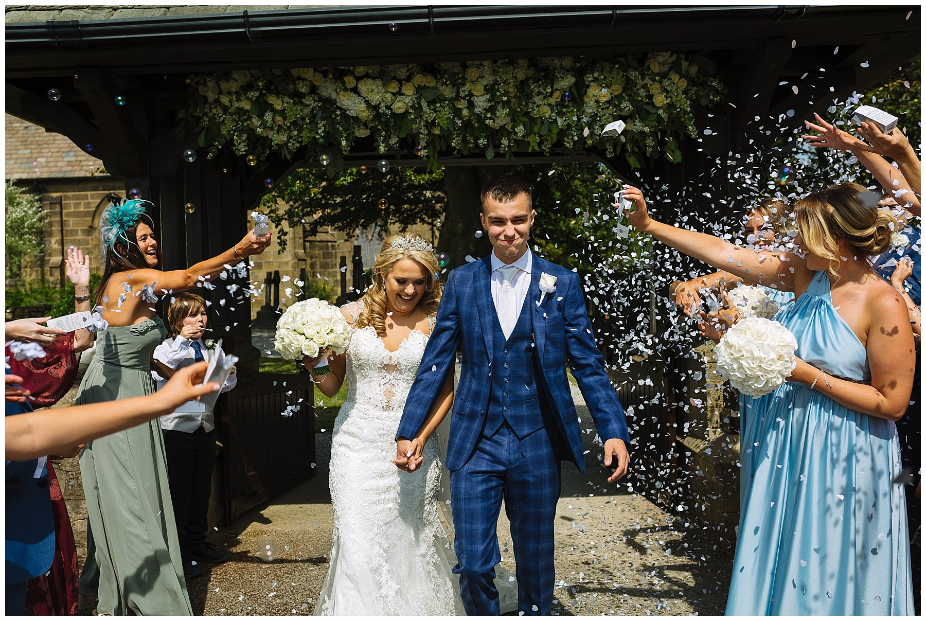 Bartle Hall Wedding Photography Confetti Shot