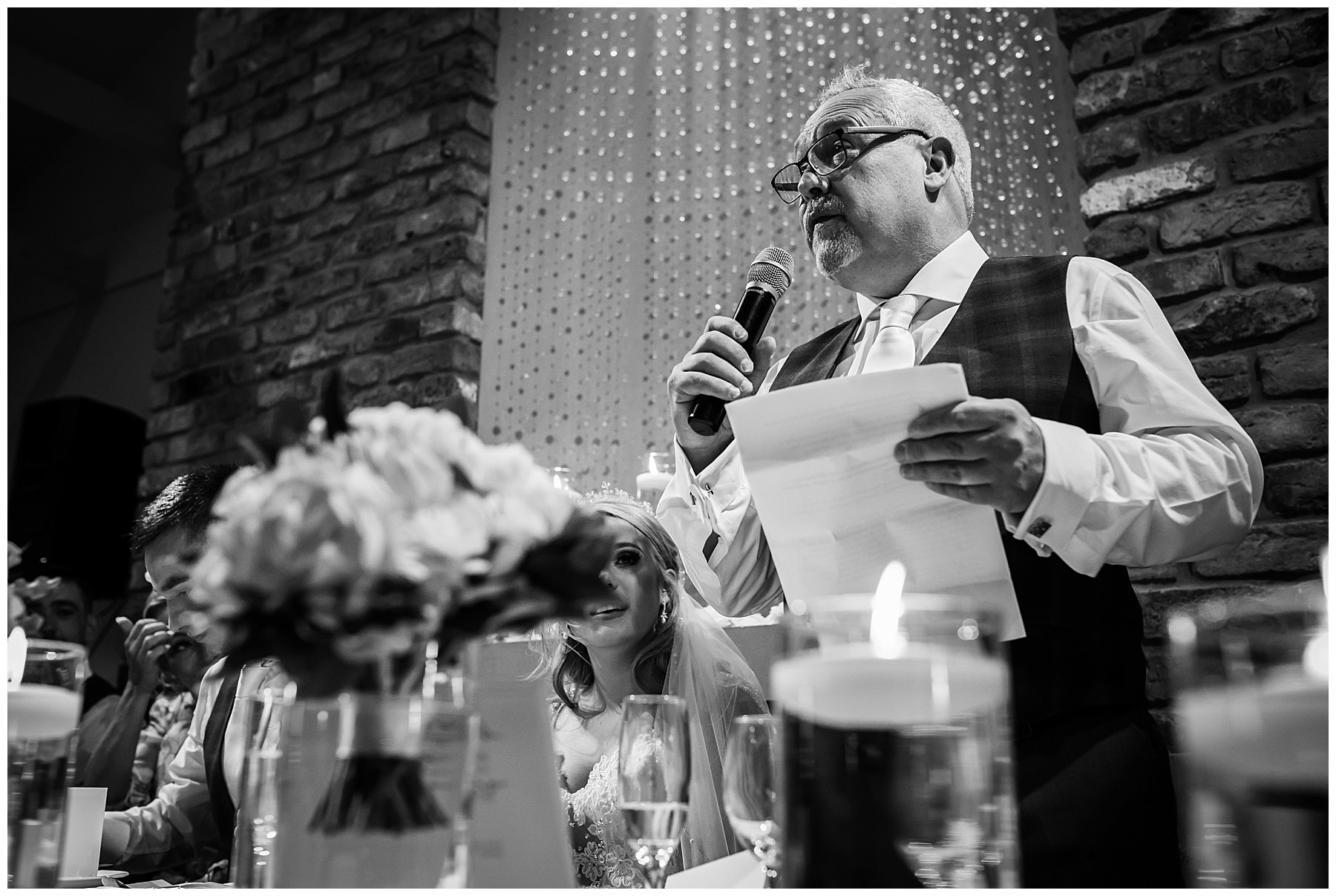 Father of the brides speech at Bartle hall