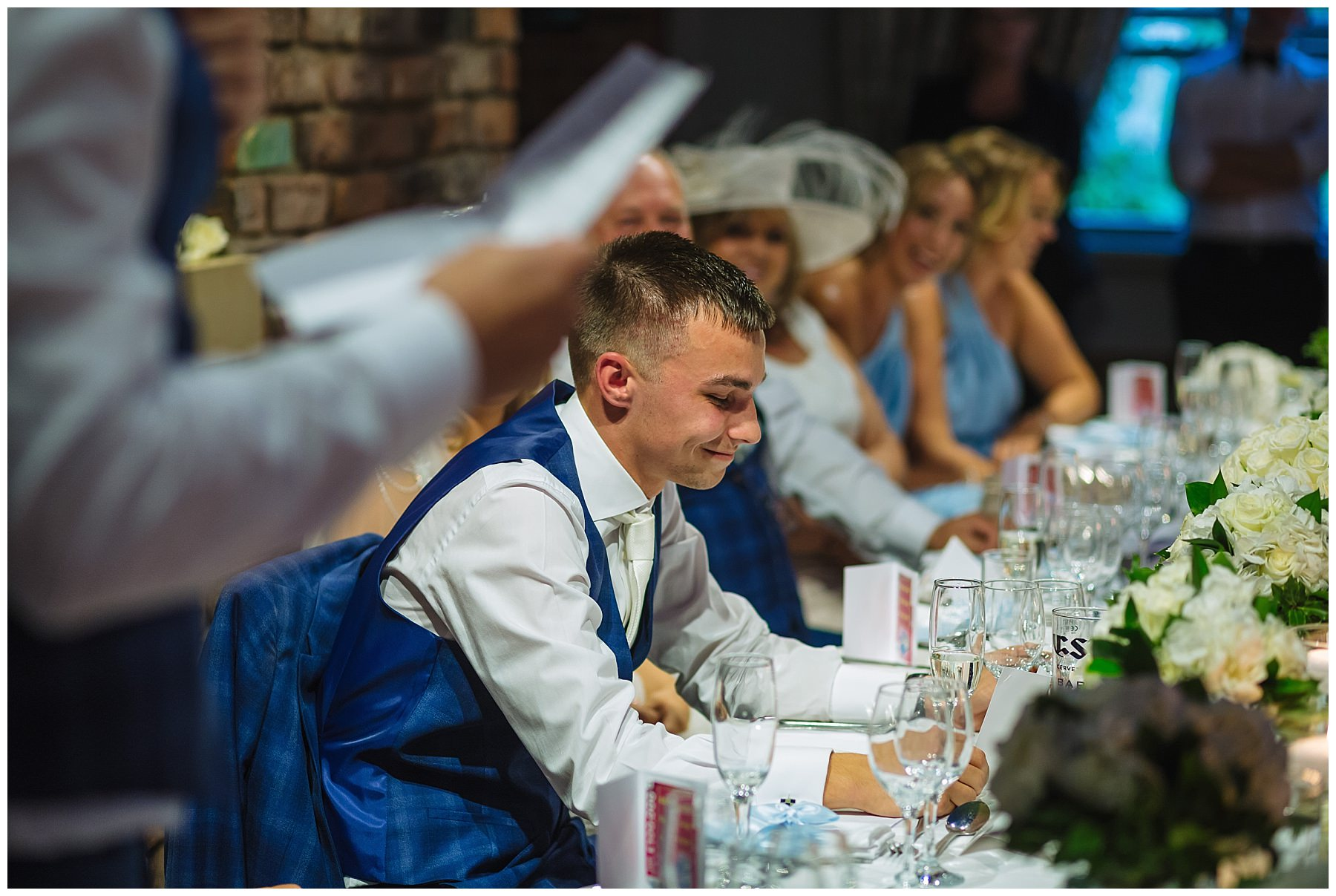 groom reacts to best mans speech