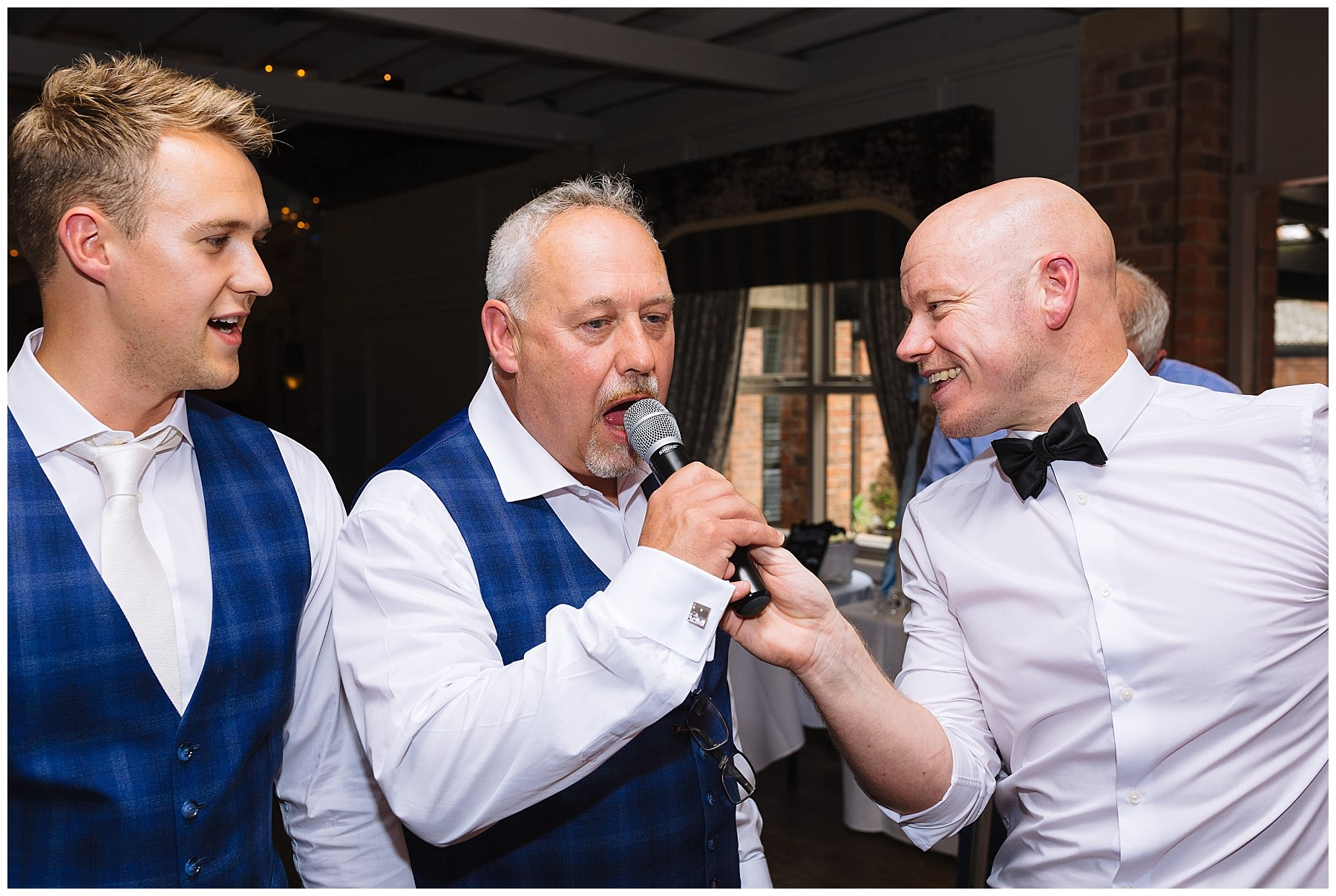 Father of the bride singing at bartle hall