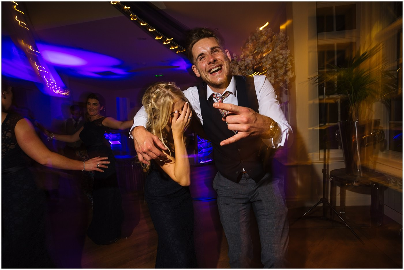 guests party and dance at mitton hall