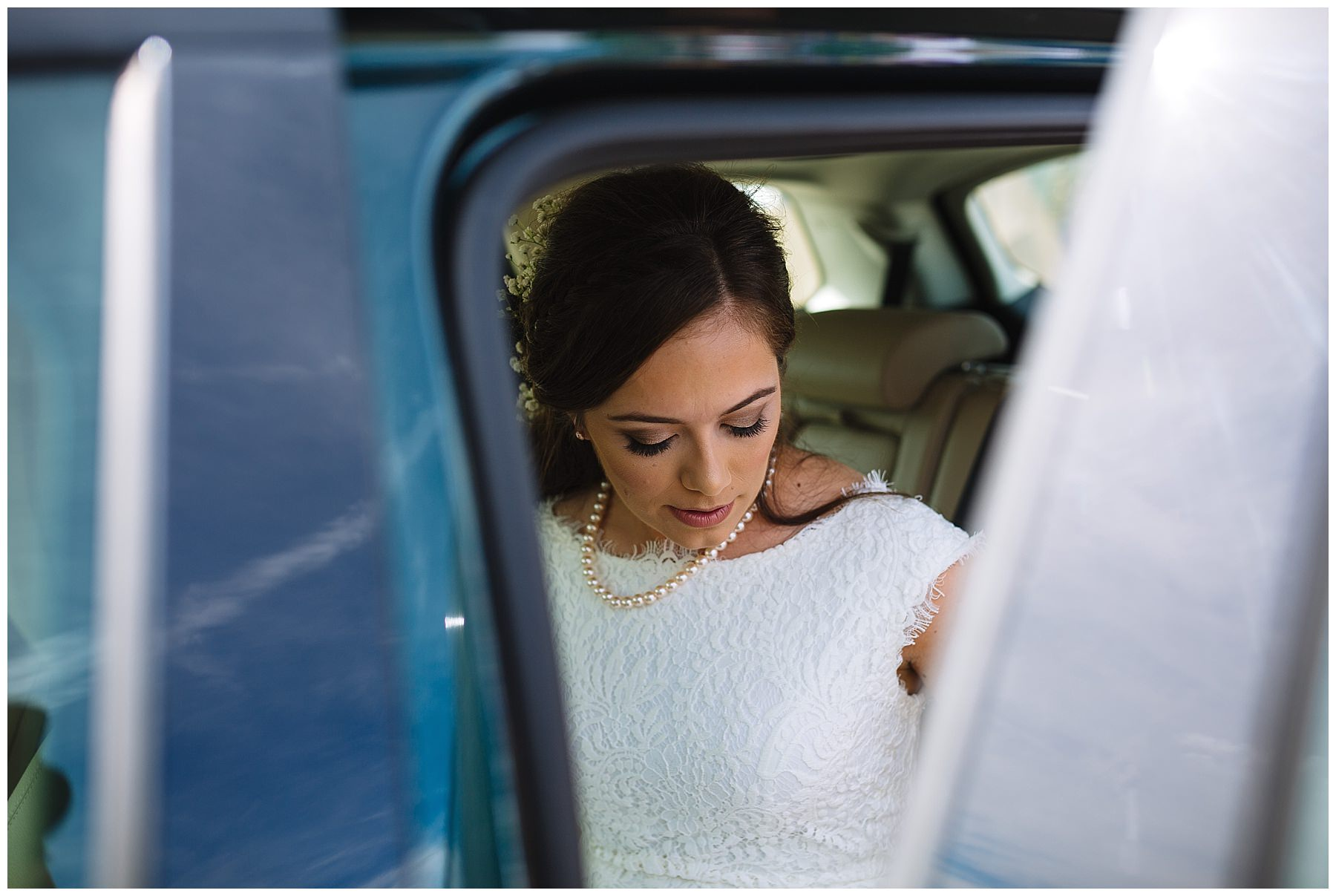 Bride arrives at The Wellbeing Farm