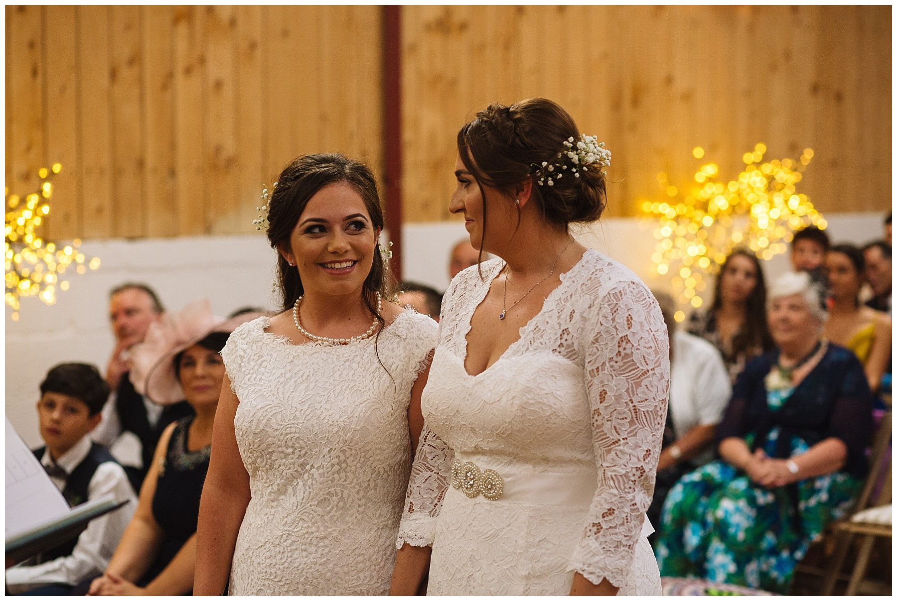 same sex wedding ceremony at the wellbeing farm