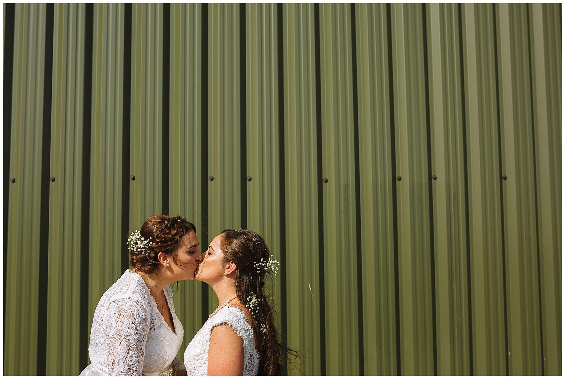 Wellbeing Farm same sex wedding photography
