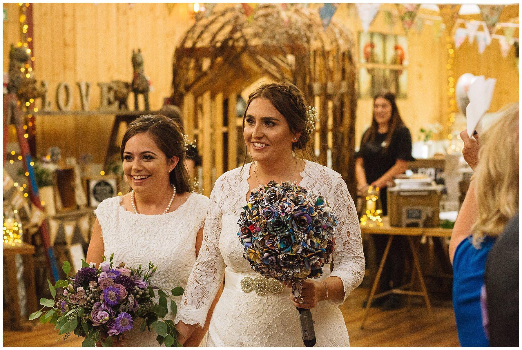 brides enter for wedding breakfast