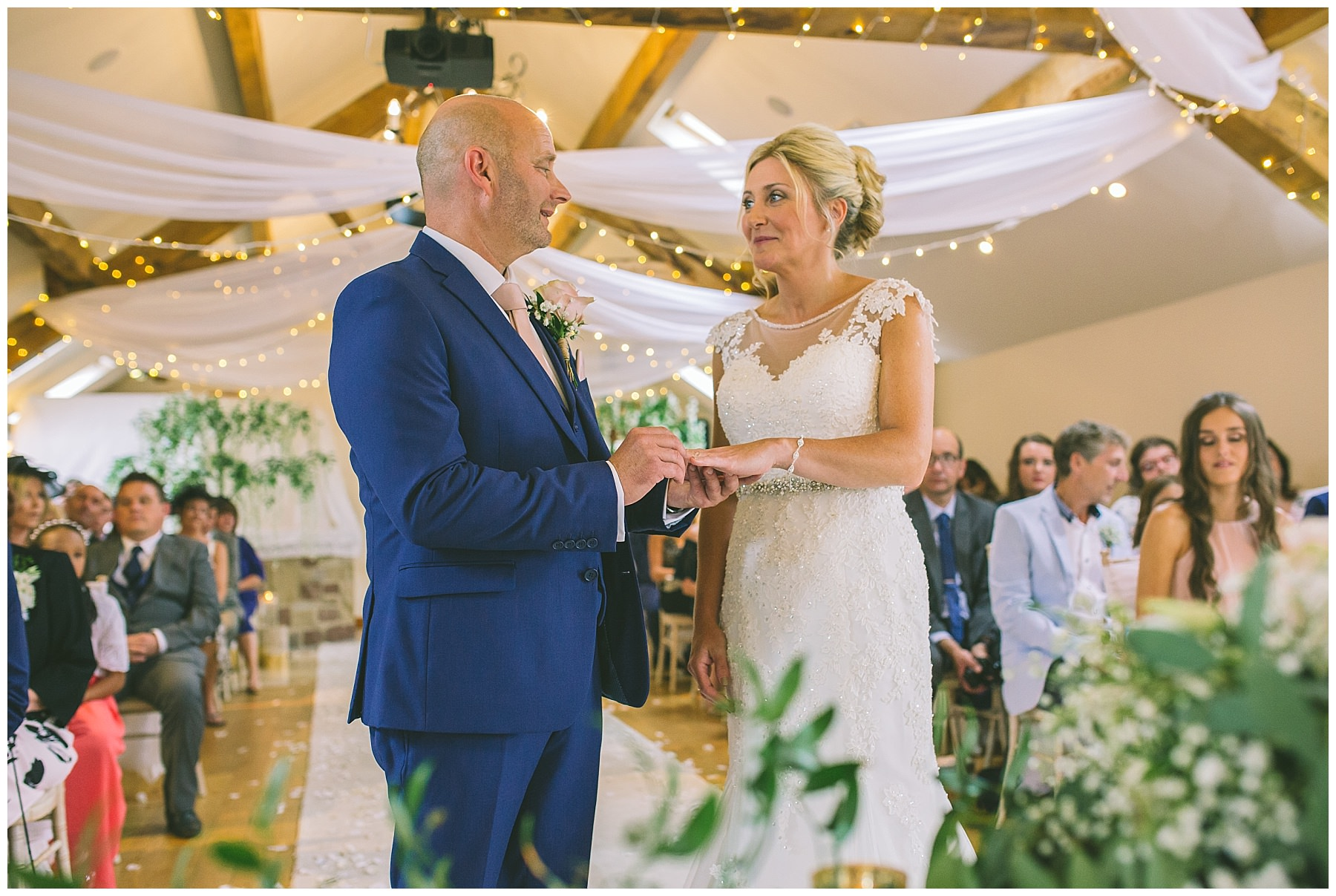 exchange of wedding rings at beeston manor