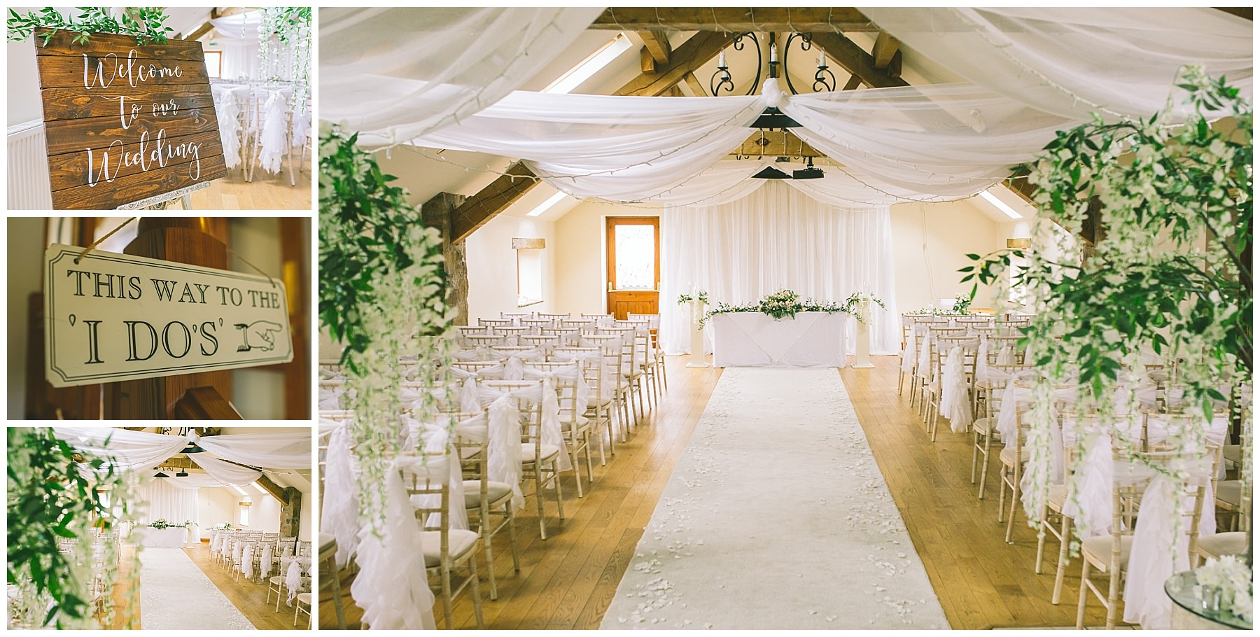 ceremony room and decor inspiration for beeston manor