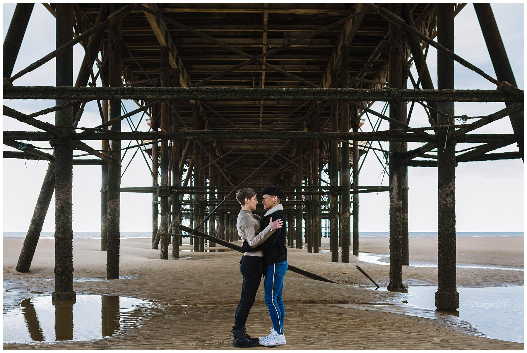 Pre wedding shoot under central pier