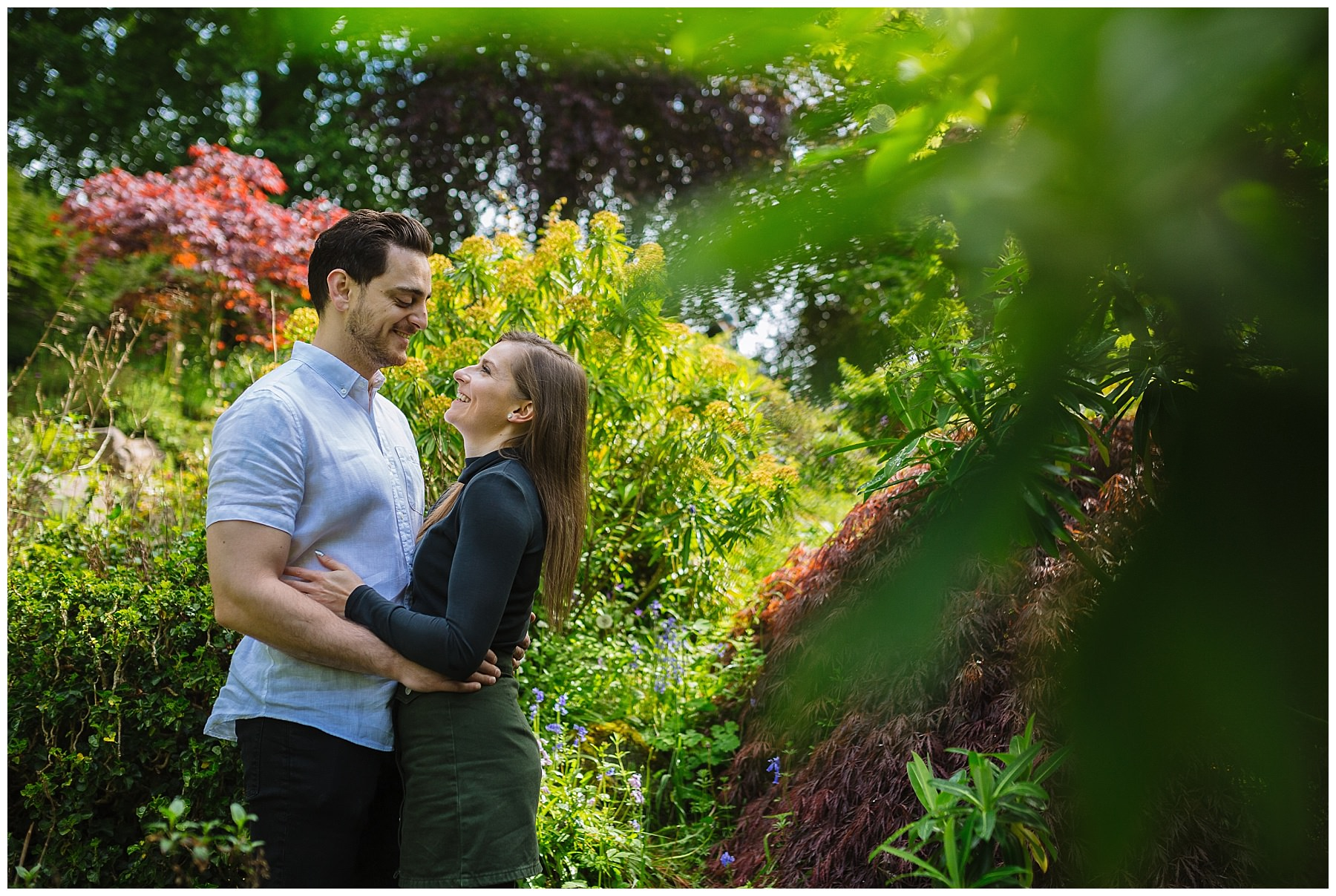 Fletcher Moss Gardens Engagement shoot