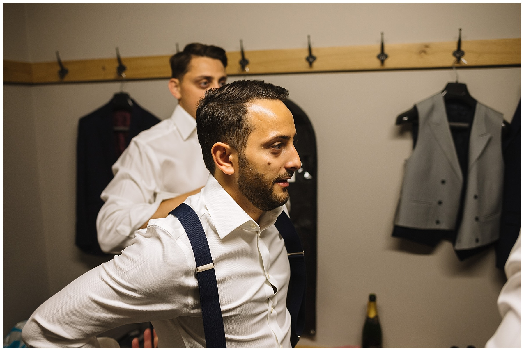 Groom and Groomsmen get ready at pryors hayes