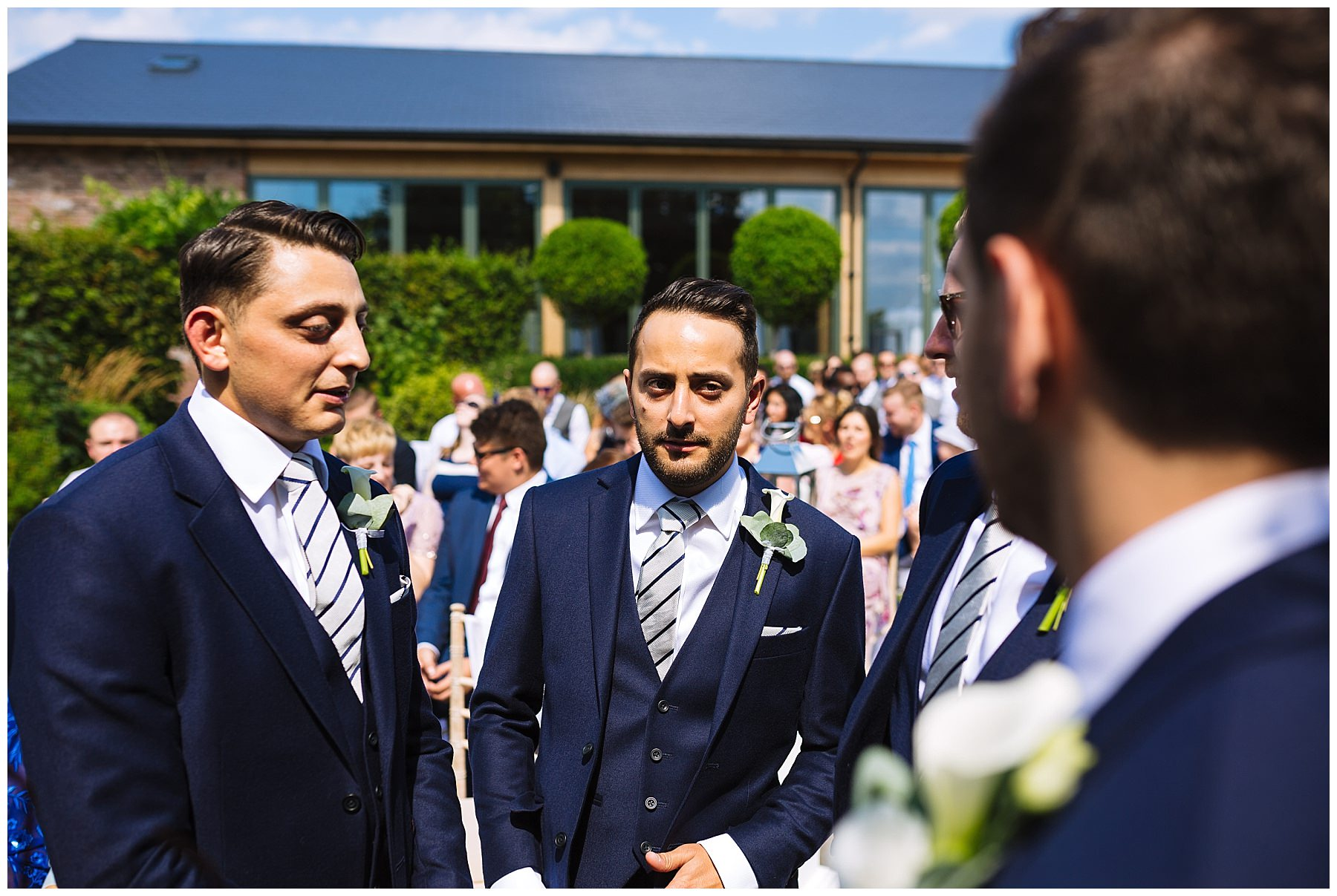 Groomsmen wait the ceremony at pryors hayes