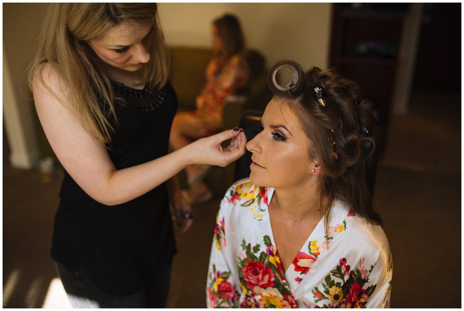 Bridal preparations for Pryors Hayes wedding