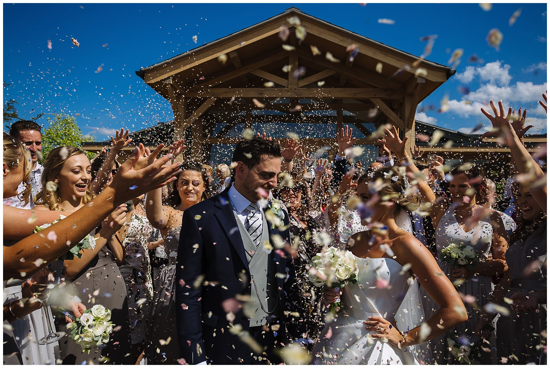 Wedding Confetti at Pryors Hayes Wedding Venue