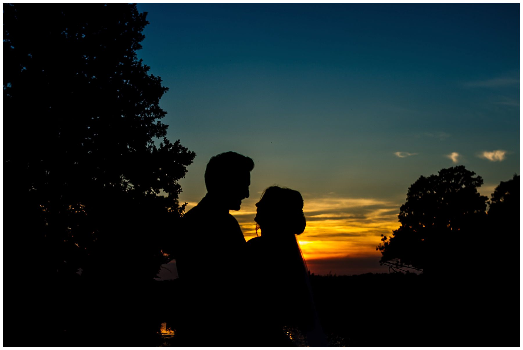 Wedding sunsets at Pryors Hayes