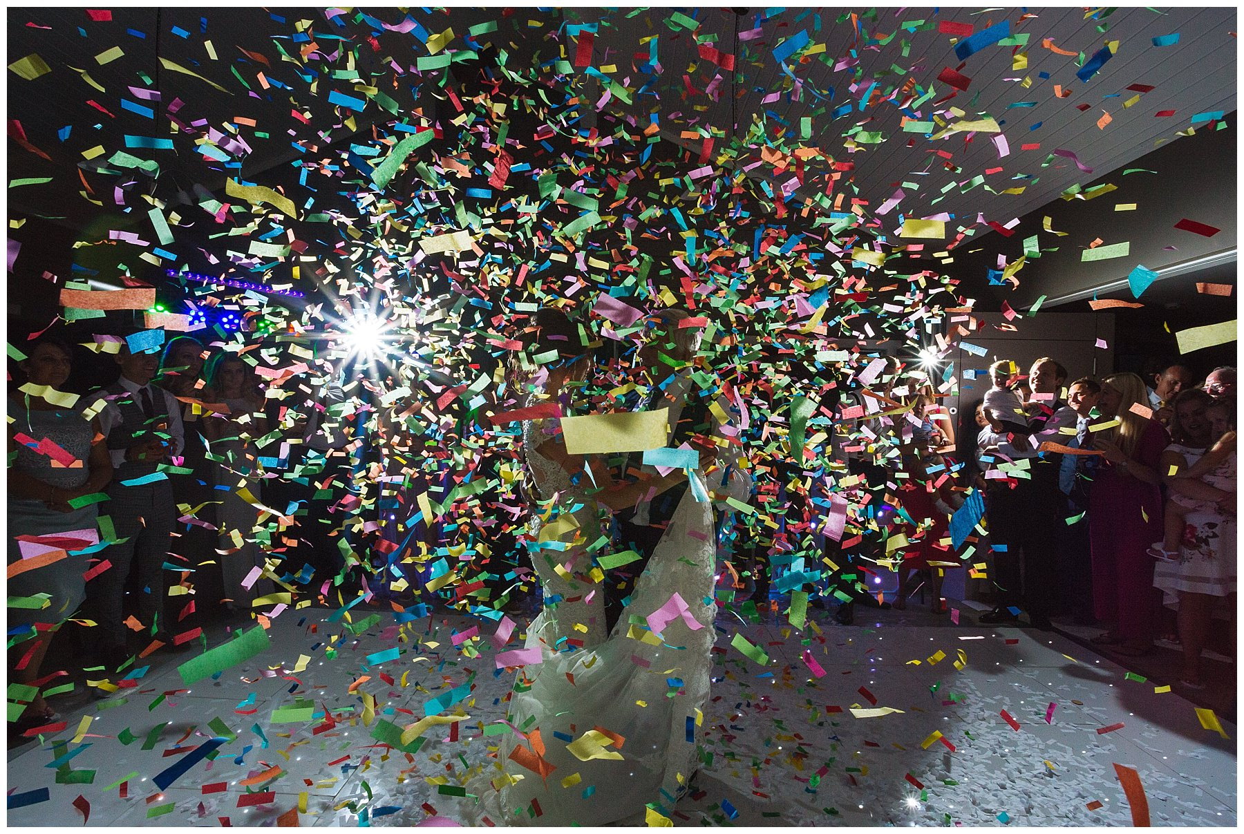 First dance confetti canons