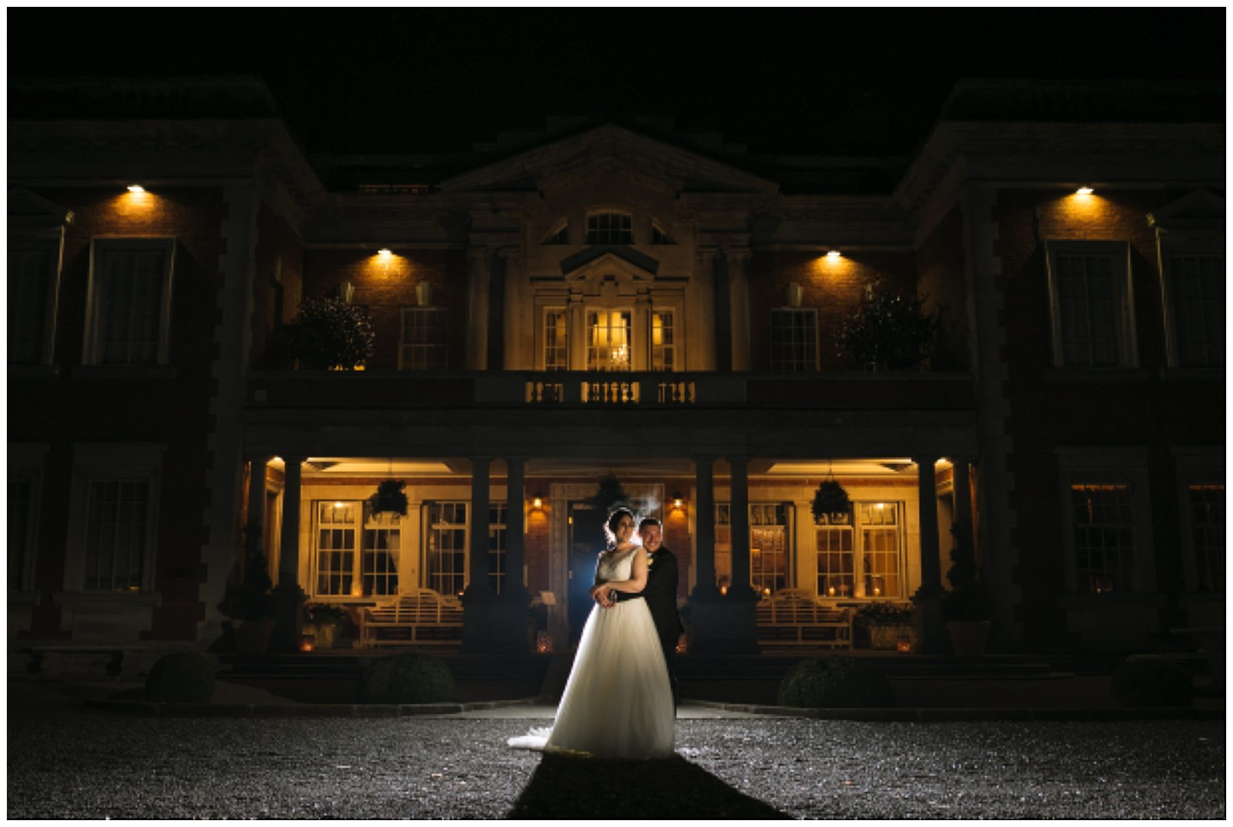 Creative wedding photography at Eaves Hall