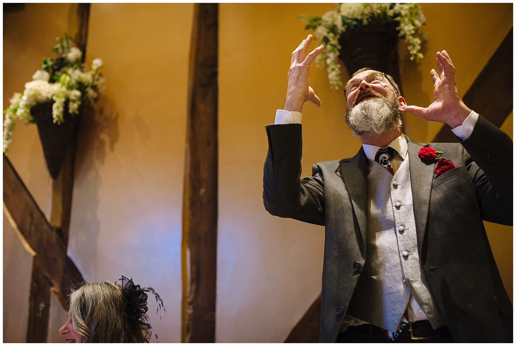 Father of the bride gives animated speech