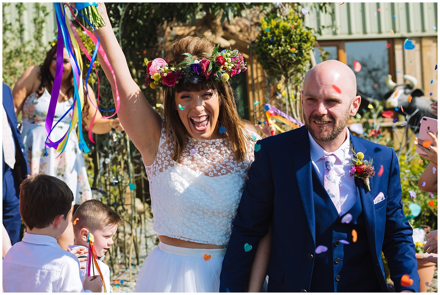 celebrations and colourful confetti at the wellbeing farm