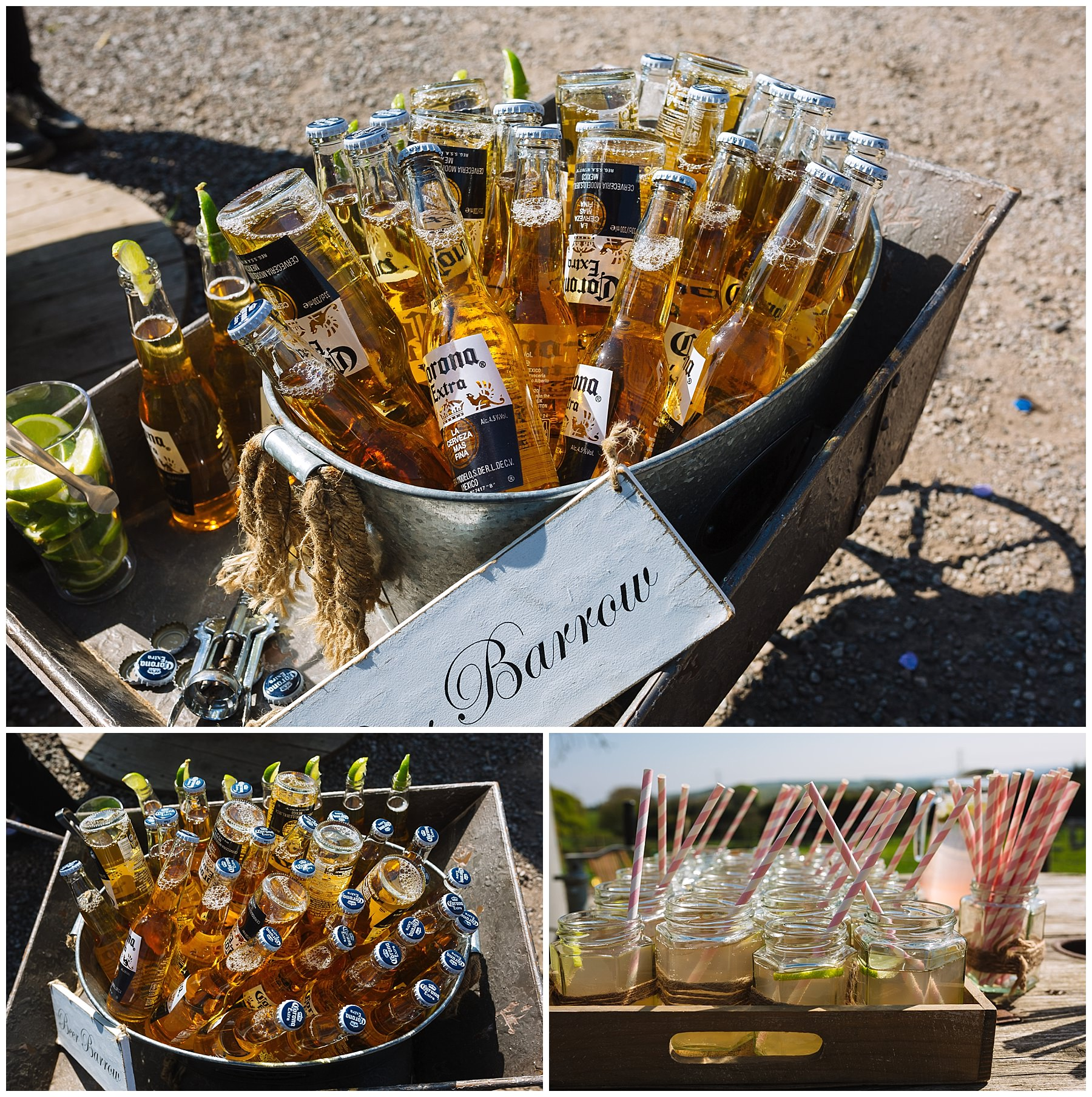 Drinks reception at the wellbeing farm