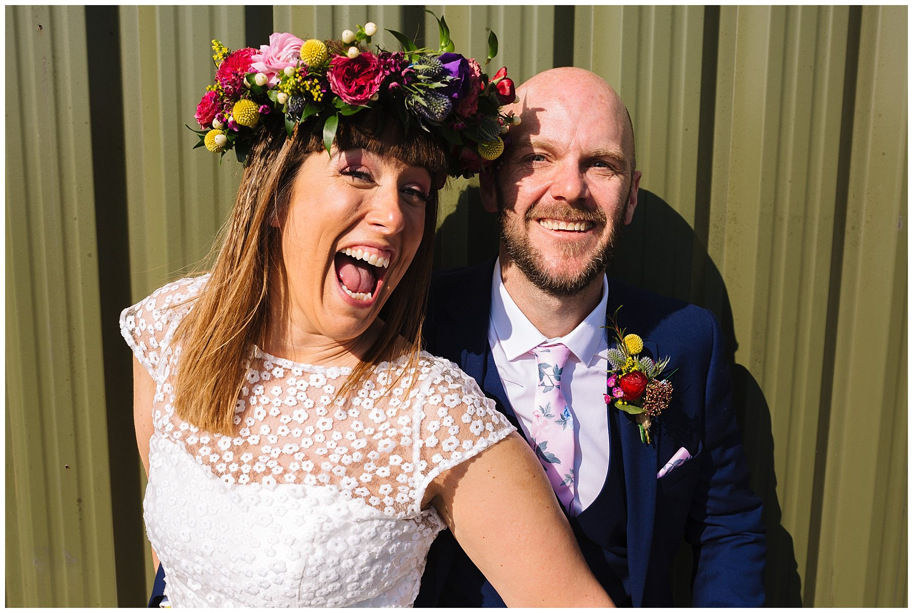 bride and groom at the wellbeing farm