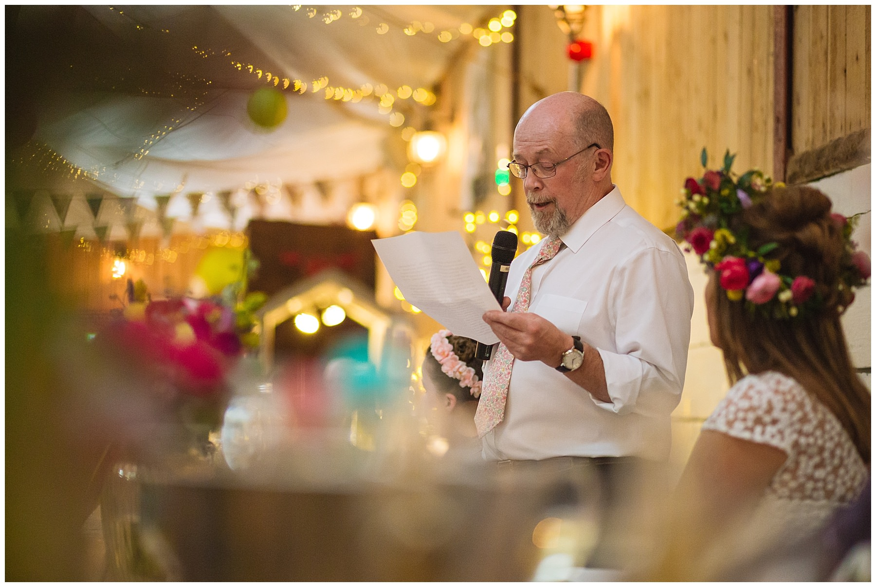 Father of the brides speech at wellbeing farm wedding in bolton