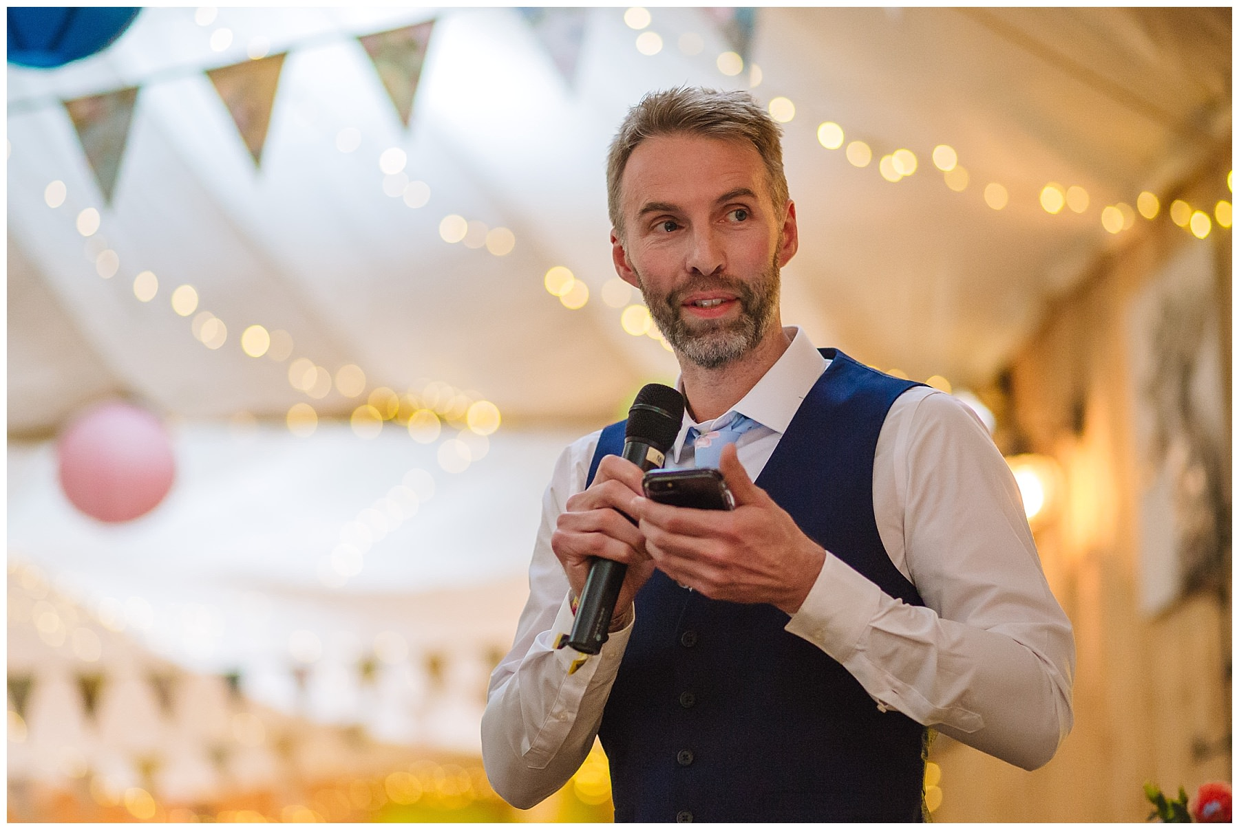 best man gives speech at quirky wellbeing farm wedding