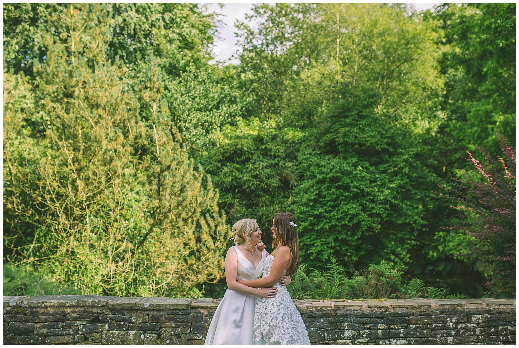 two brides at rivington barn same sex wedding