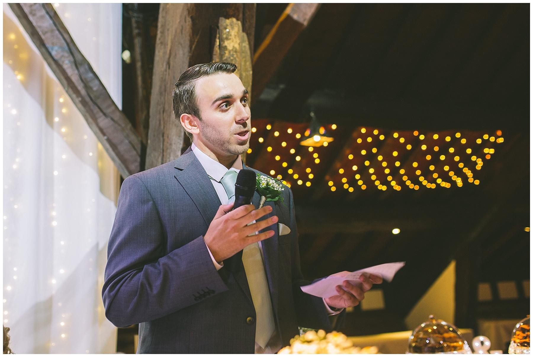 best mans speech at rivington barn