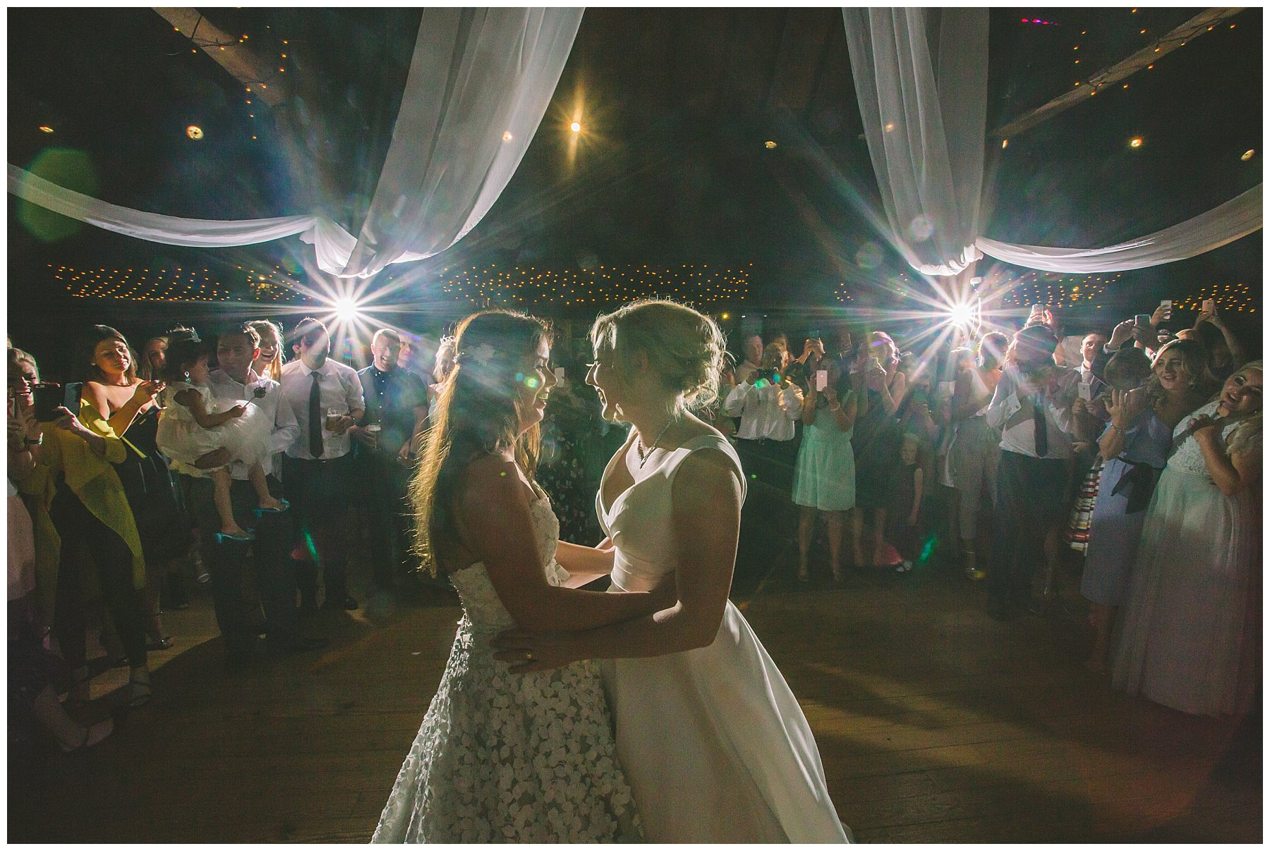 Same Sex wedding first dance at rivington barn