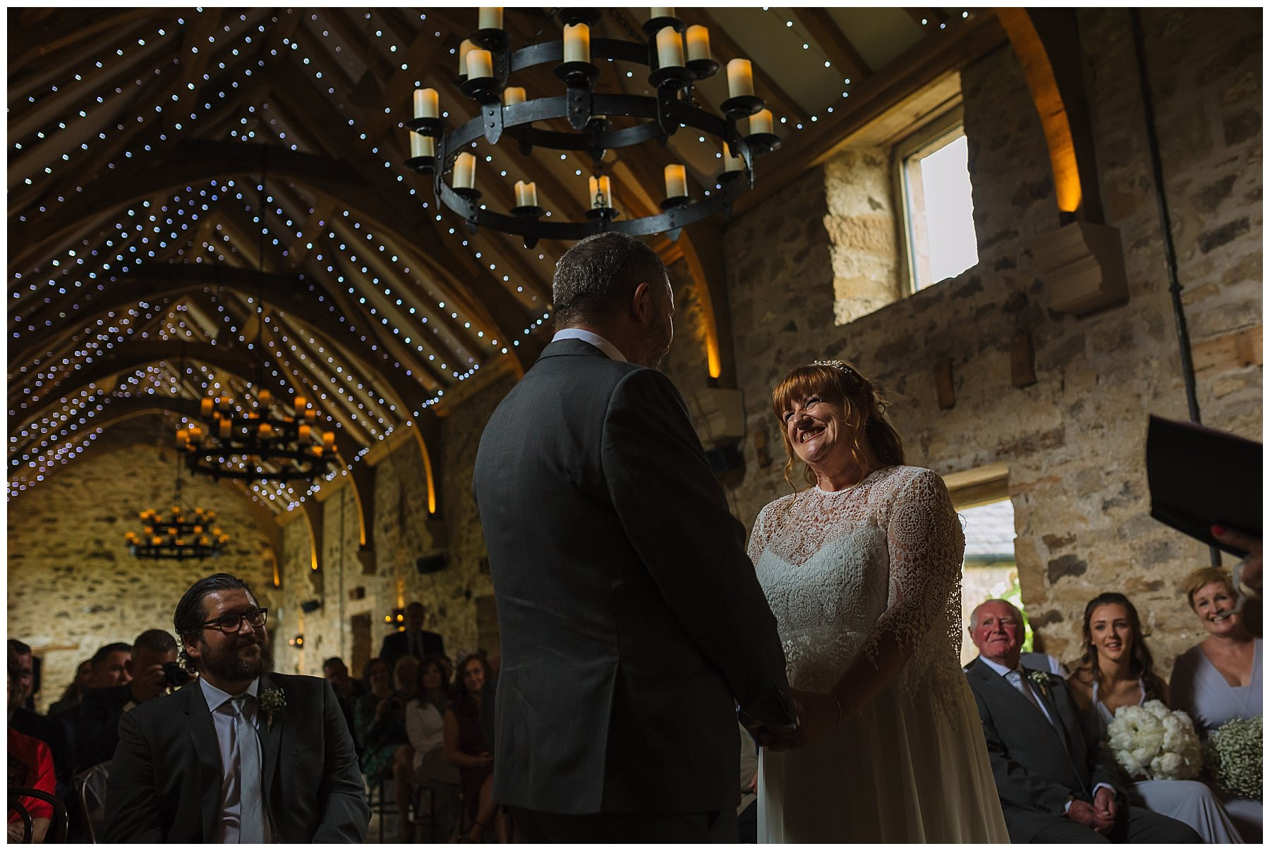 wedding ceremony in the beautiful healey barn