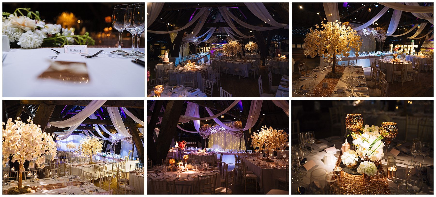 Stunning rivington barn deccorated for a wedding by scene my event