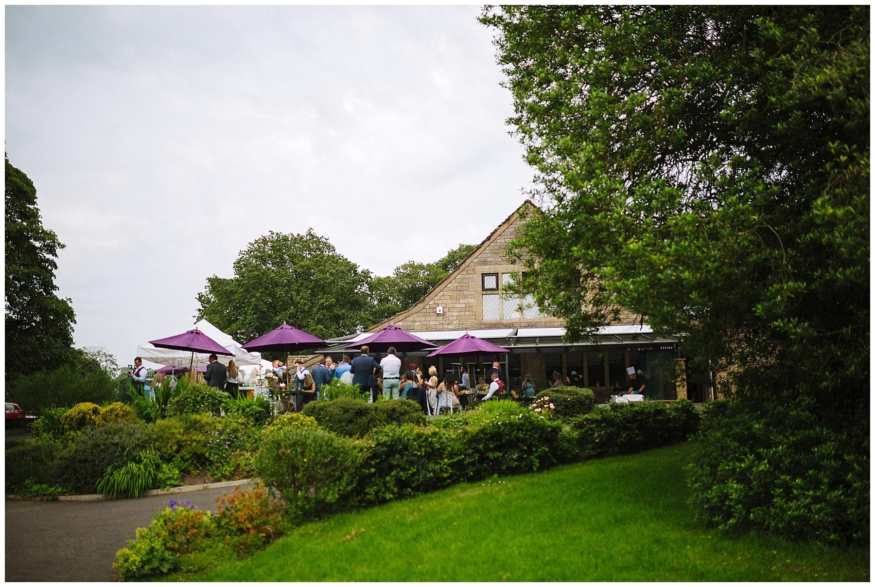 Rivington Hall Barn in the summer