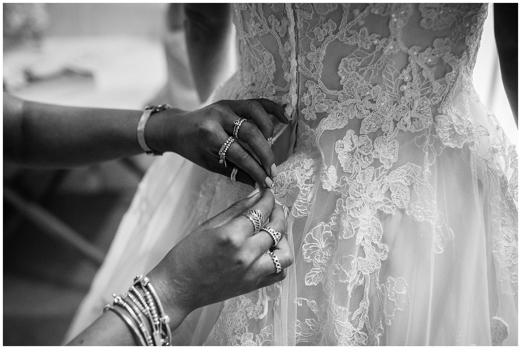 beautiful wedding dress details
