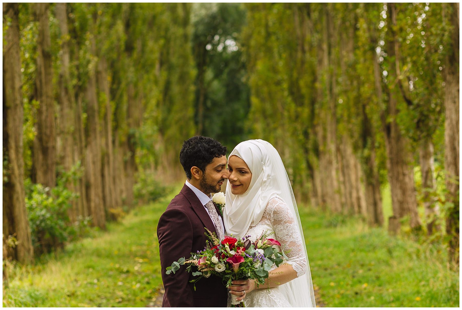 Wedding portraits at fletcher moss gardens