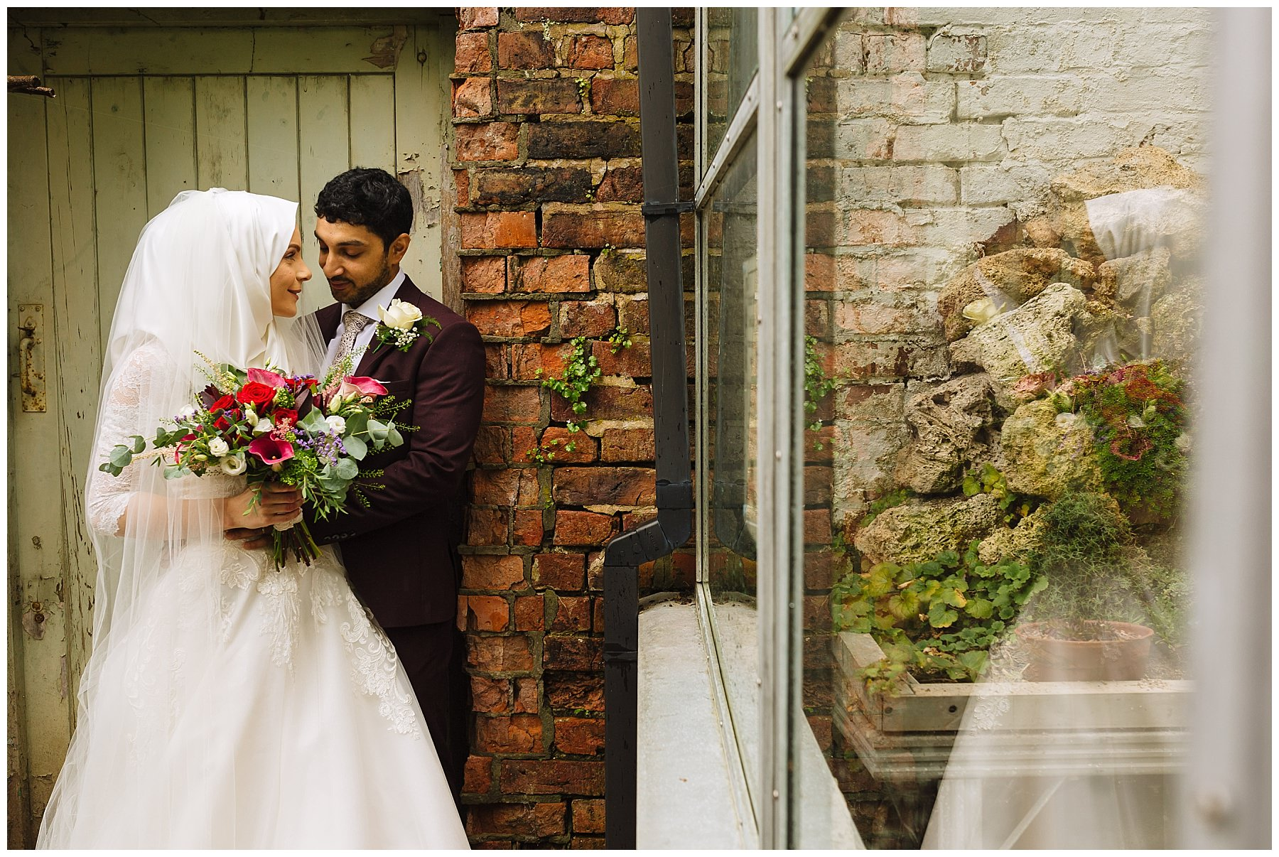Bridal portraits at The Old Parsonage in Didsbury