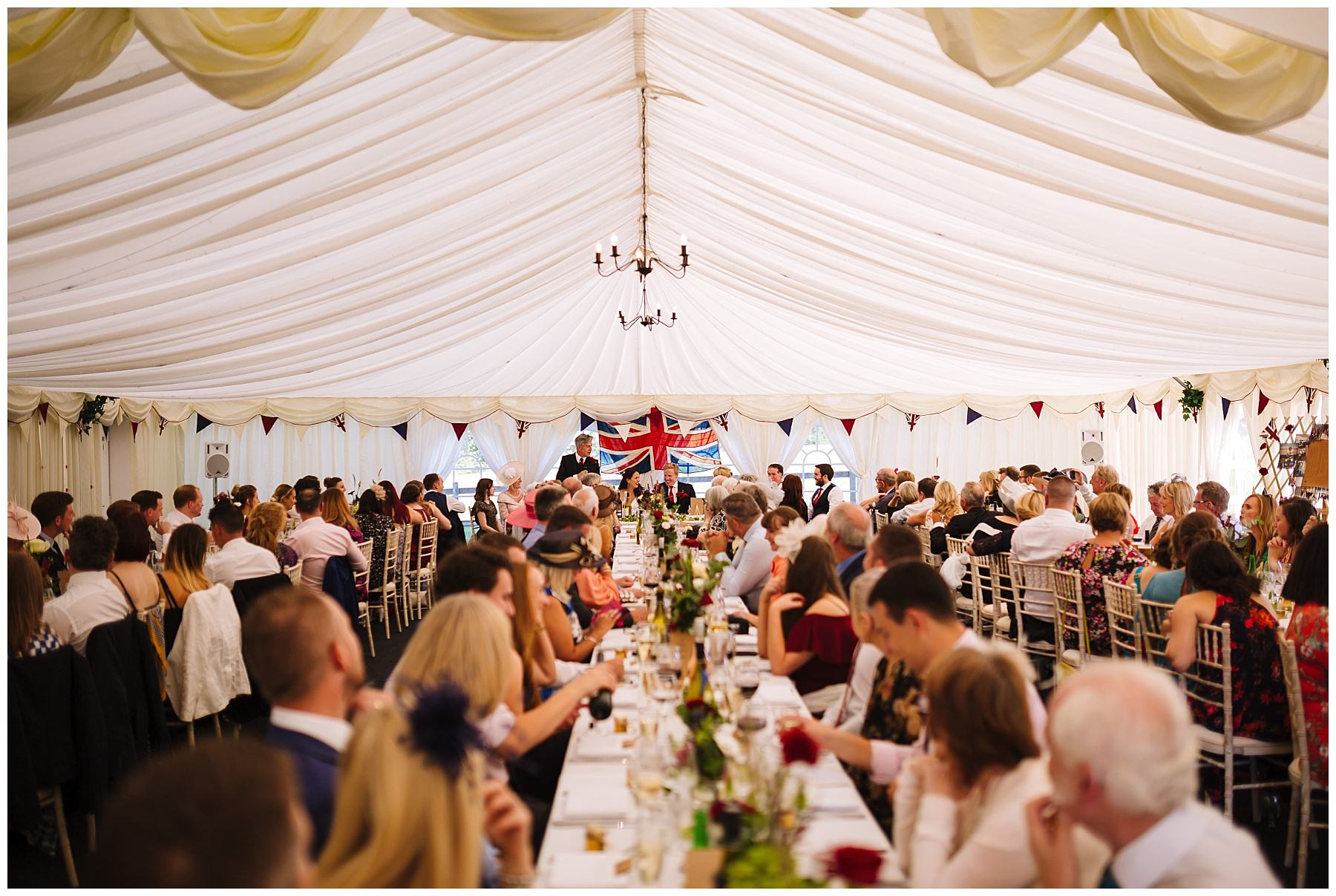 Wedding breakfast in the Marquee at Hilltop House