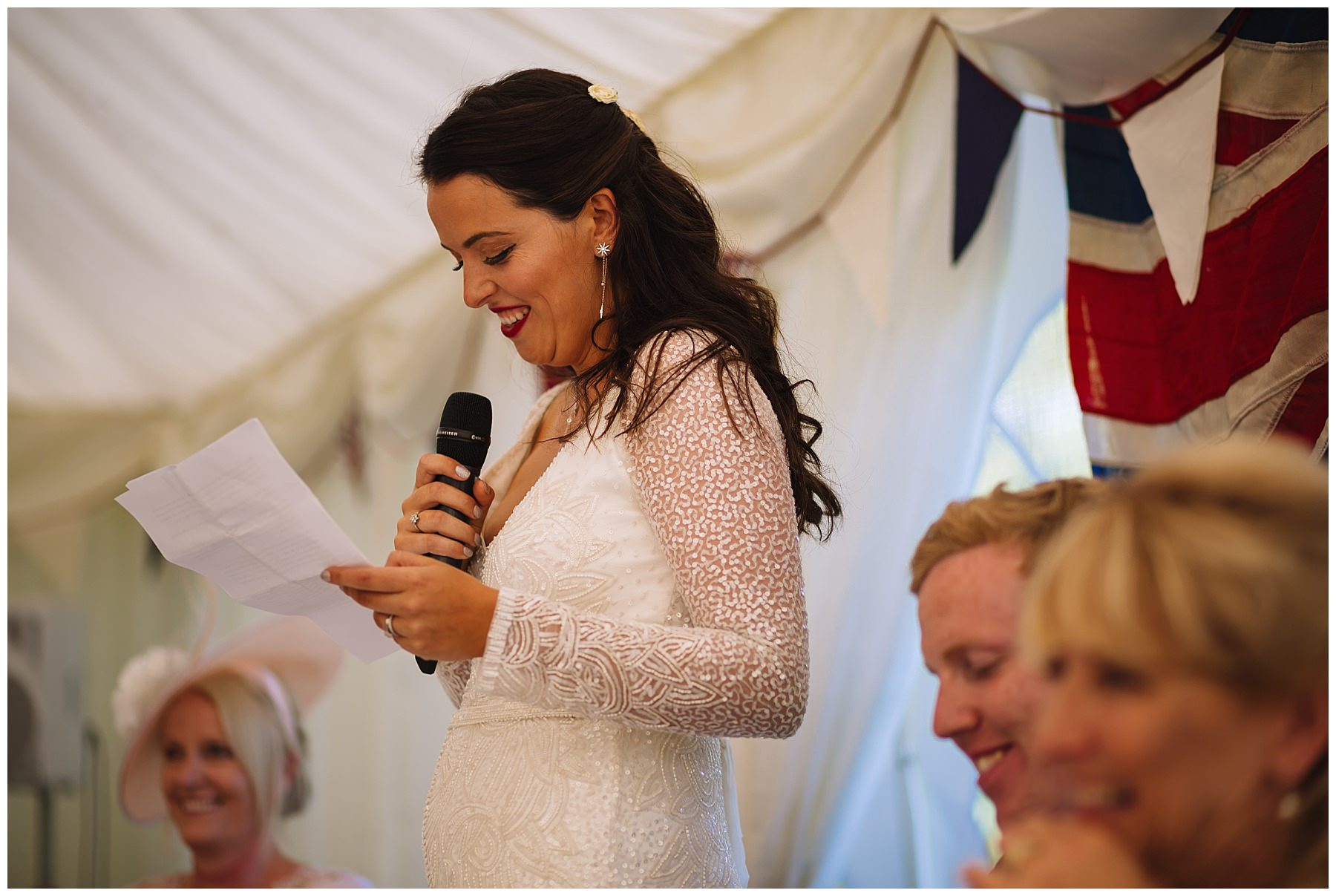 Bride breaks traditions by giving a speech at her wedding