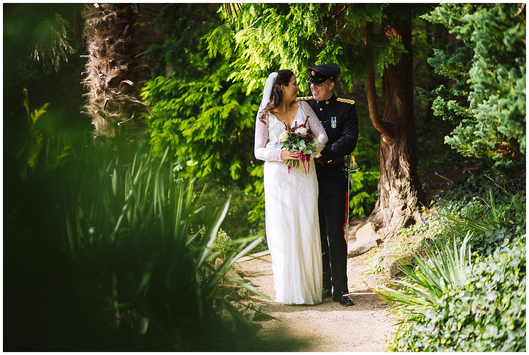 beautiful Didsbury Wedding Photography in Fletcher Moss Gardens