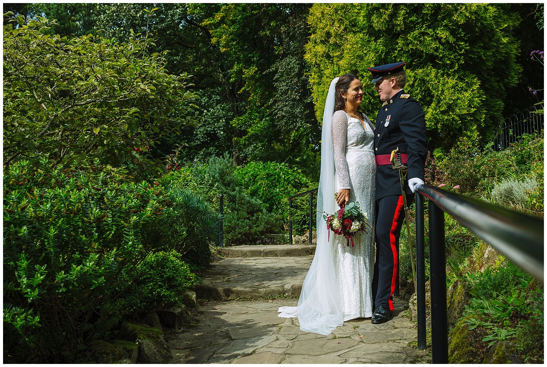 Military wedding in didsbury