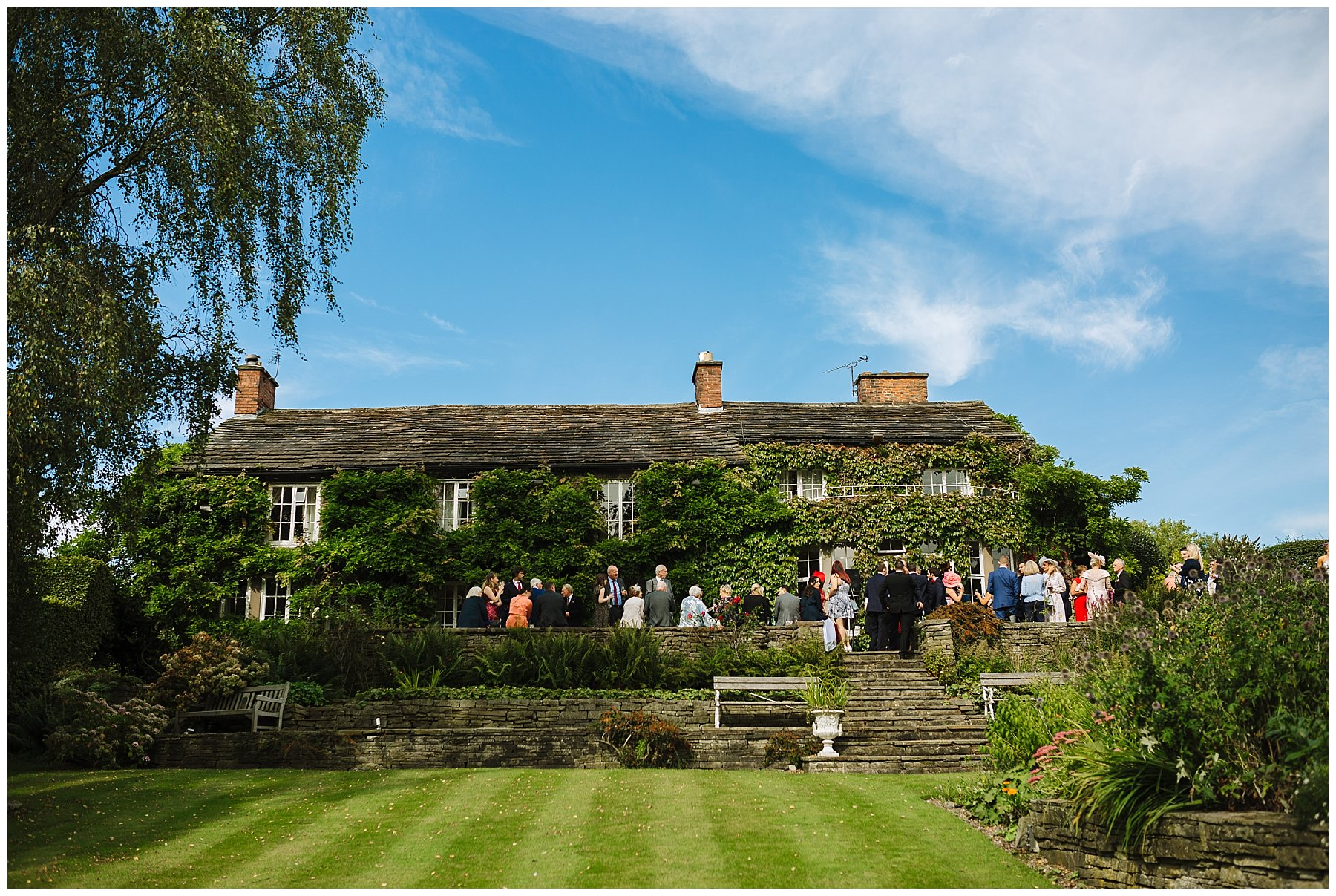 Summer wedding in the gardens of Hilltop House